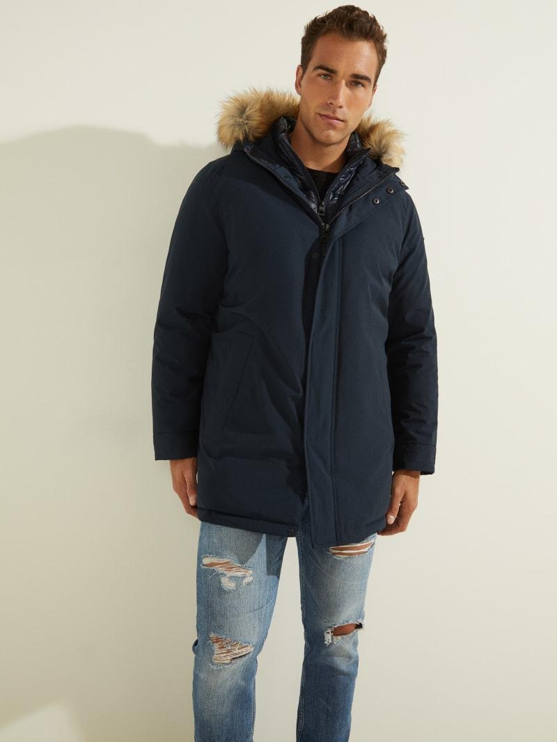 Brian Faux-Fur Hooded Coat