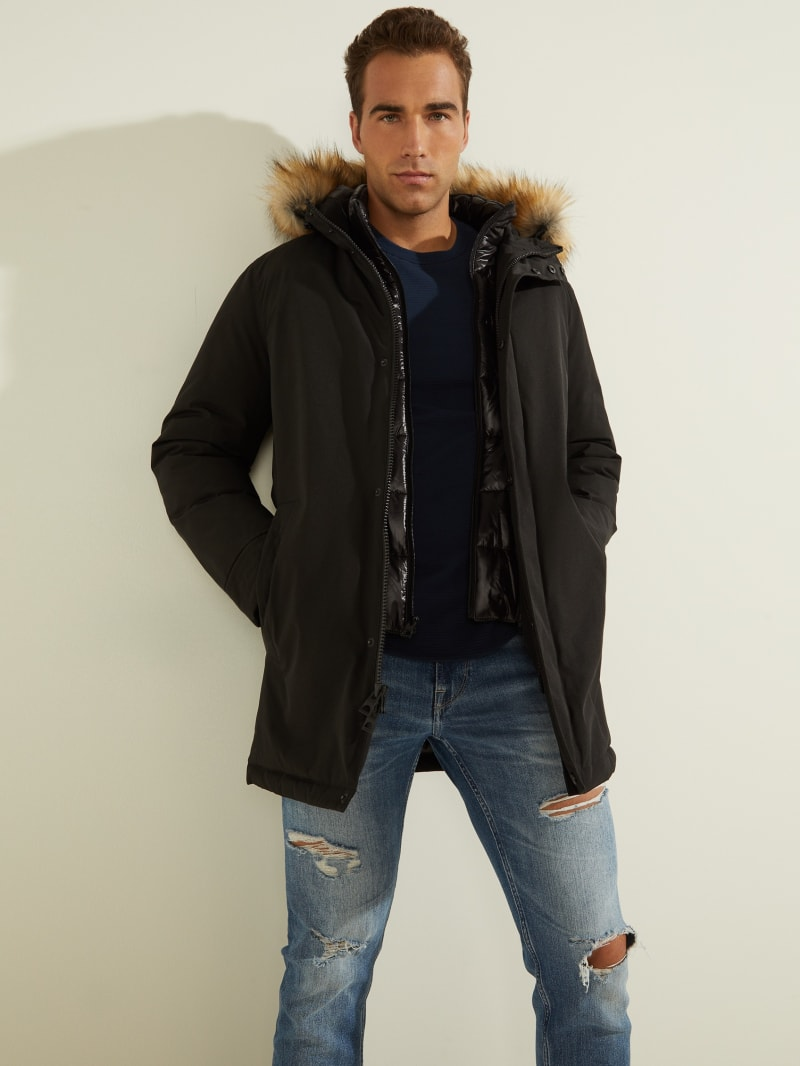 Brian Faux-Fur Hooded Coat