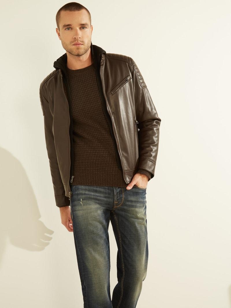 Scott Faux-Leather Moto Jacket