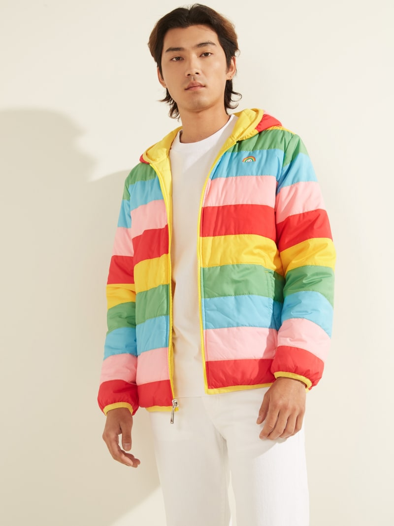 FriendsWithYou x GUESS Striped Reversible Jacket