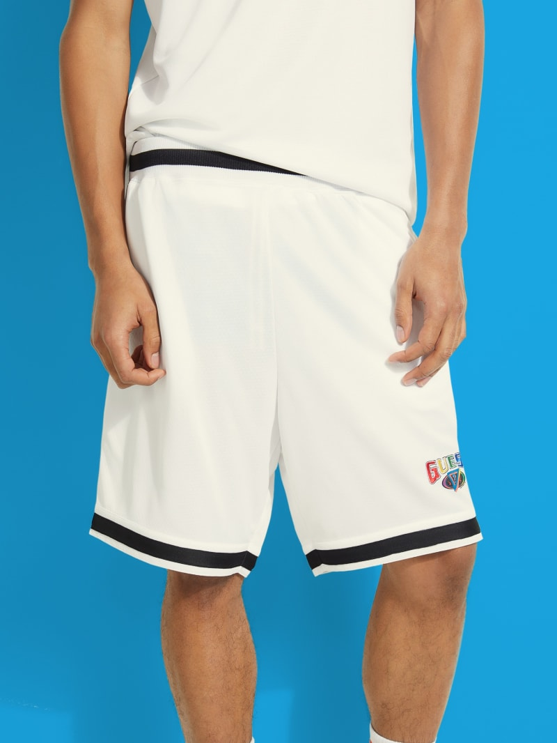 GUESS x J Balvin Basketball Logo Shorts