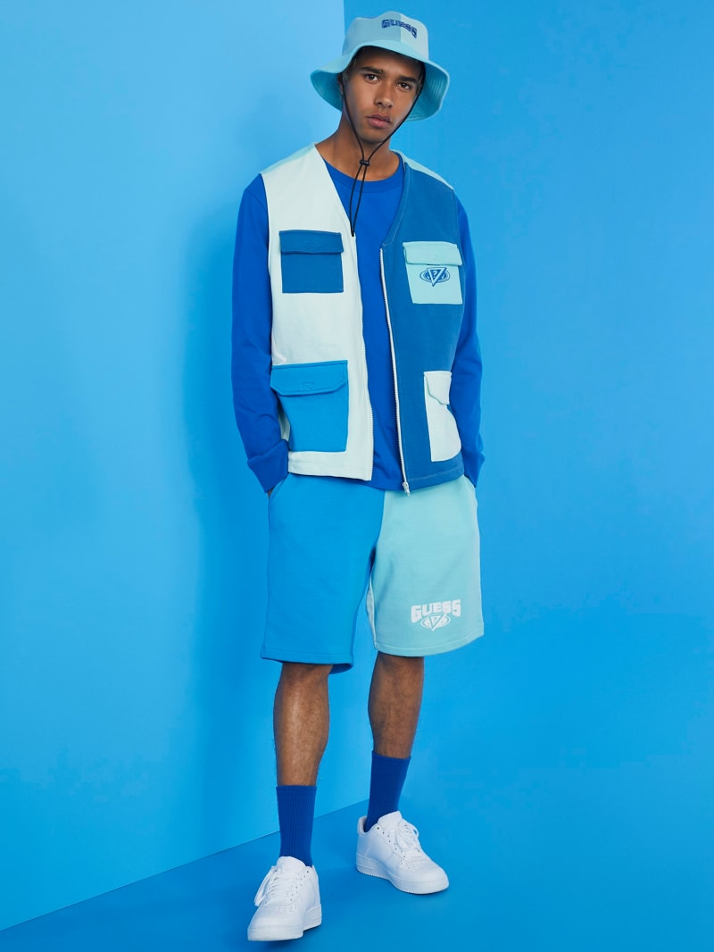 GUESS x J Balvin Color-Blocked Shorts