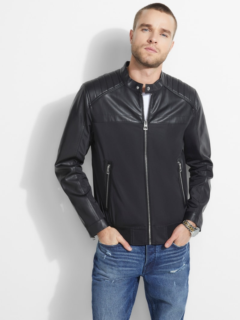 Juan Faux-Leather Moto Jacket