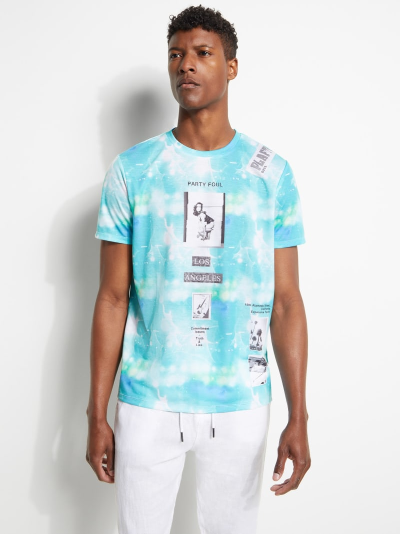 Tie-Dye Collage Tee