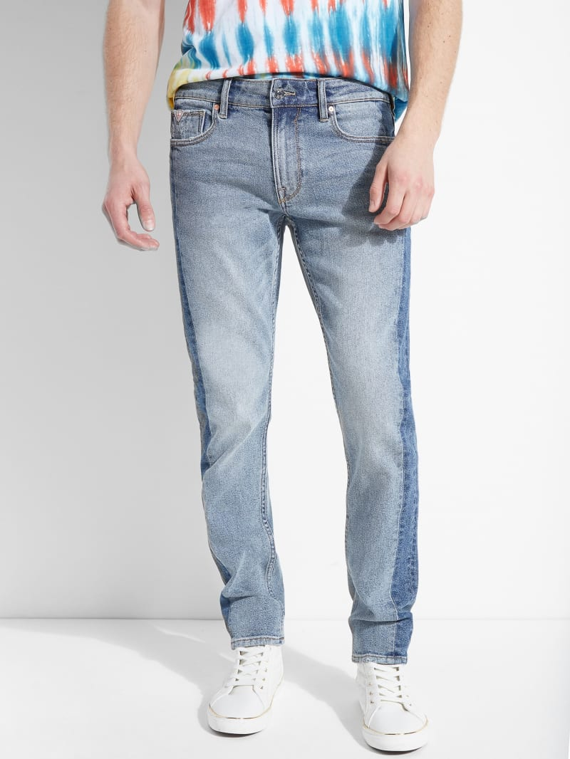 Contrasting Tapered Slim Jeans