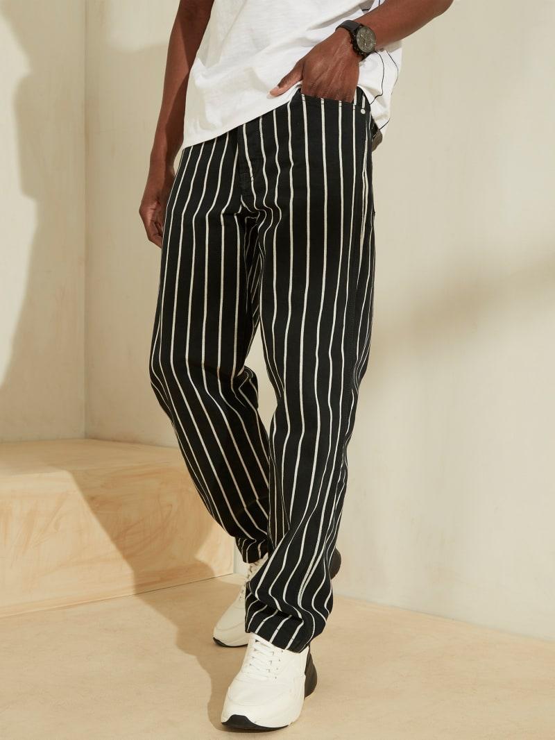 Carpenter Fit Striped Jeans