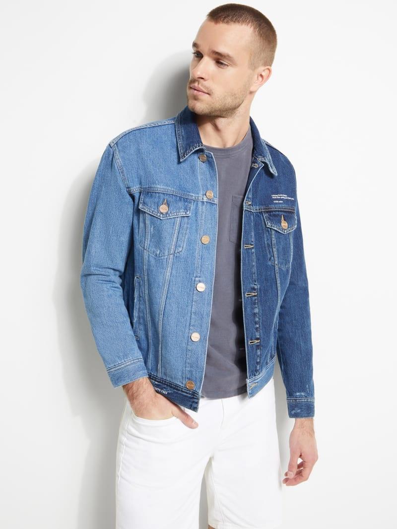Two-Tone Denim Jacket