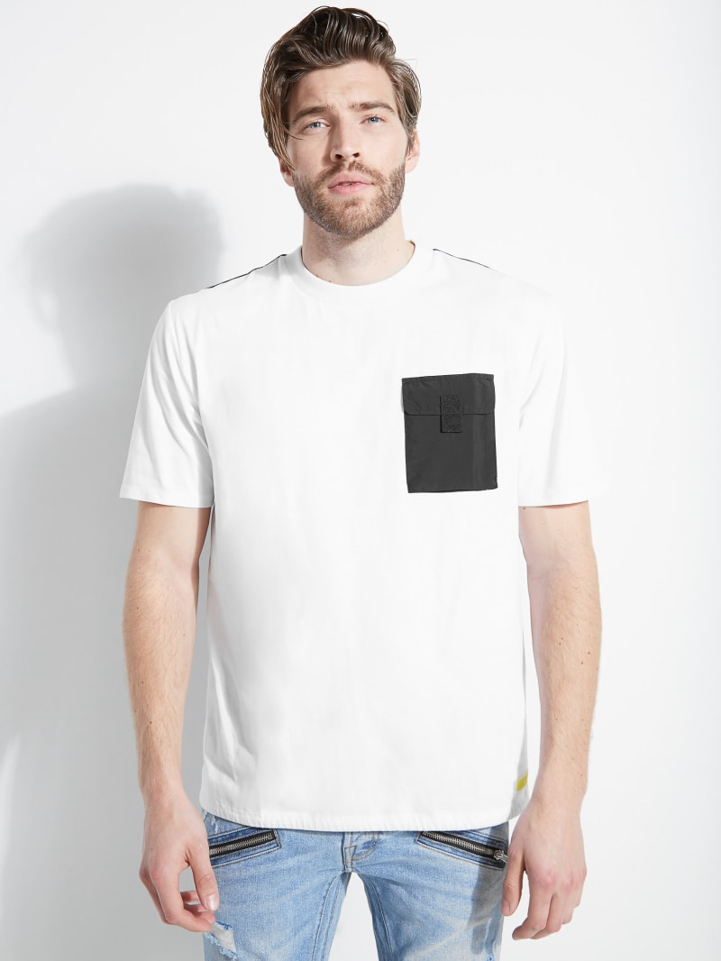 James Nylon Pocket Crewneck Tee