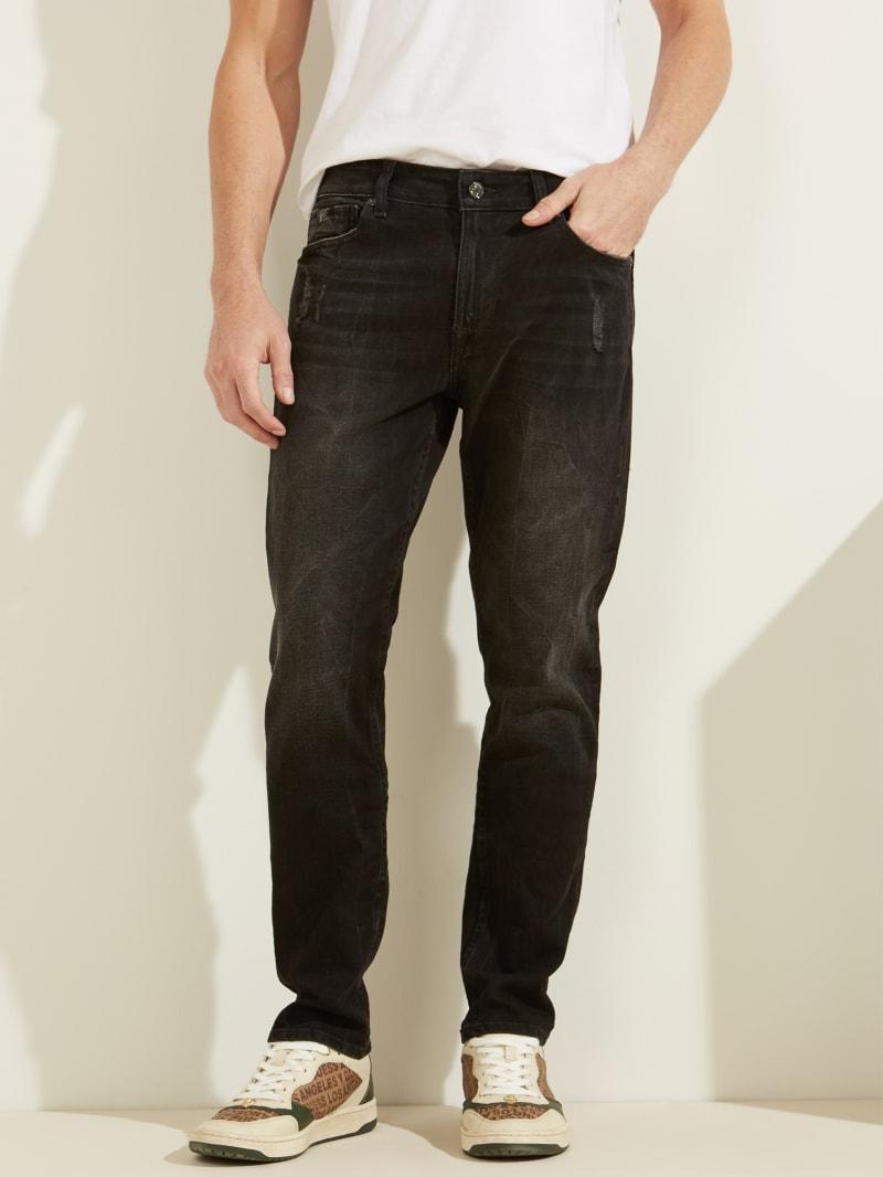 Slim Tapered Destroyed Wash Jeans