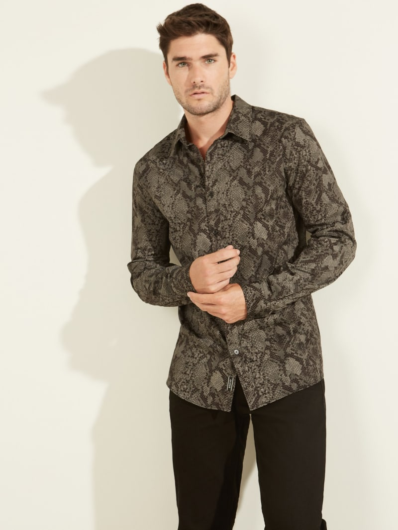 Eden Snake Button-Down Shirt