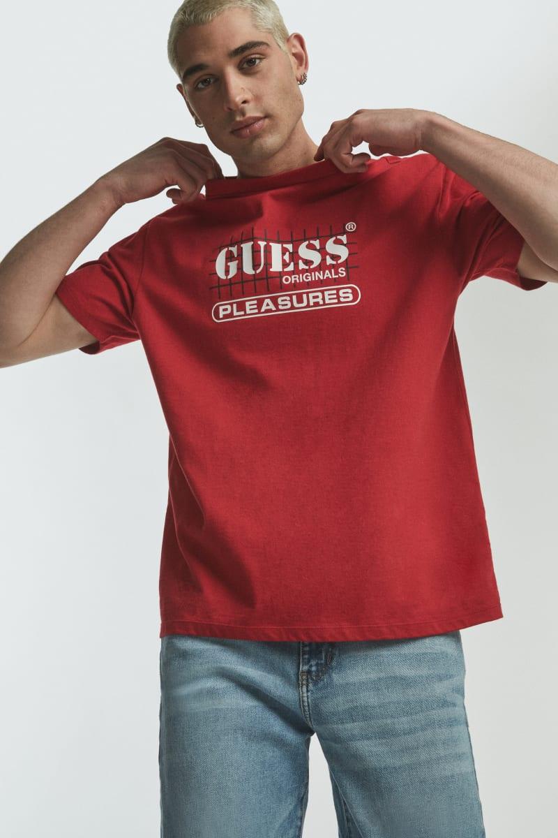 GUESS Originals x PLEASURES Logo Tee