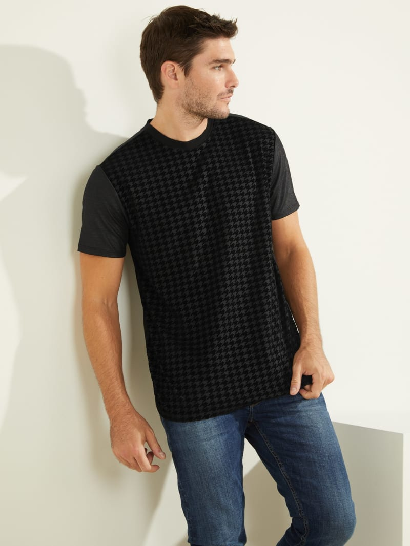 Short-Sleeved Houndstooth Tee