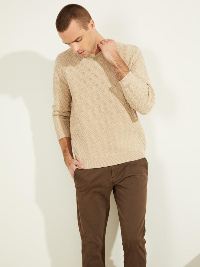 Geo Stitch Crewneck Sweater