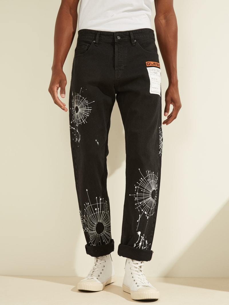 Rodeo Destroyed Straight Jeans