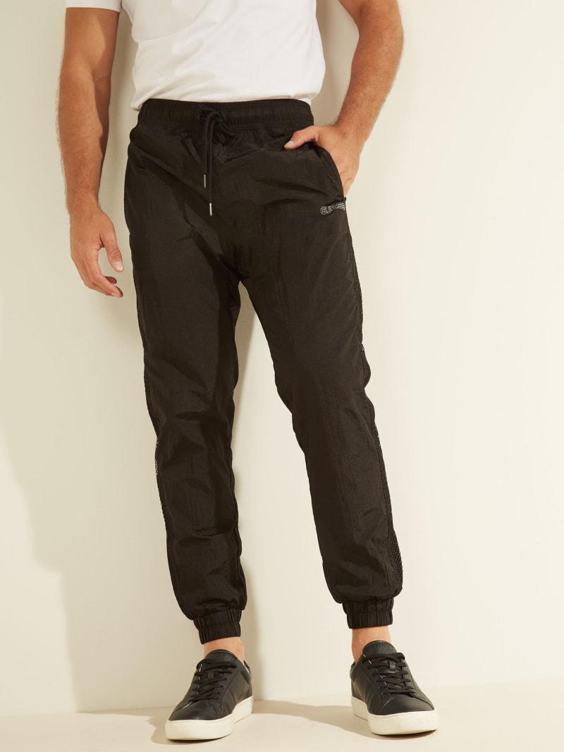 Crinkled Nylon Track Pants