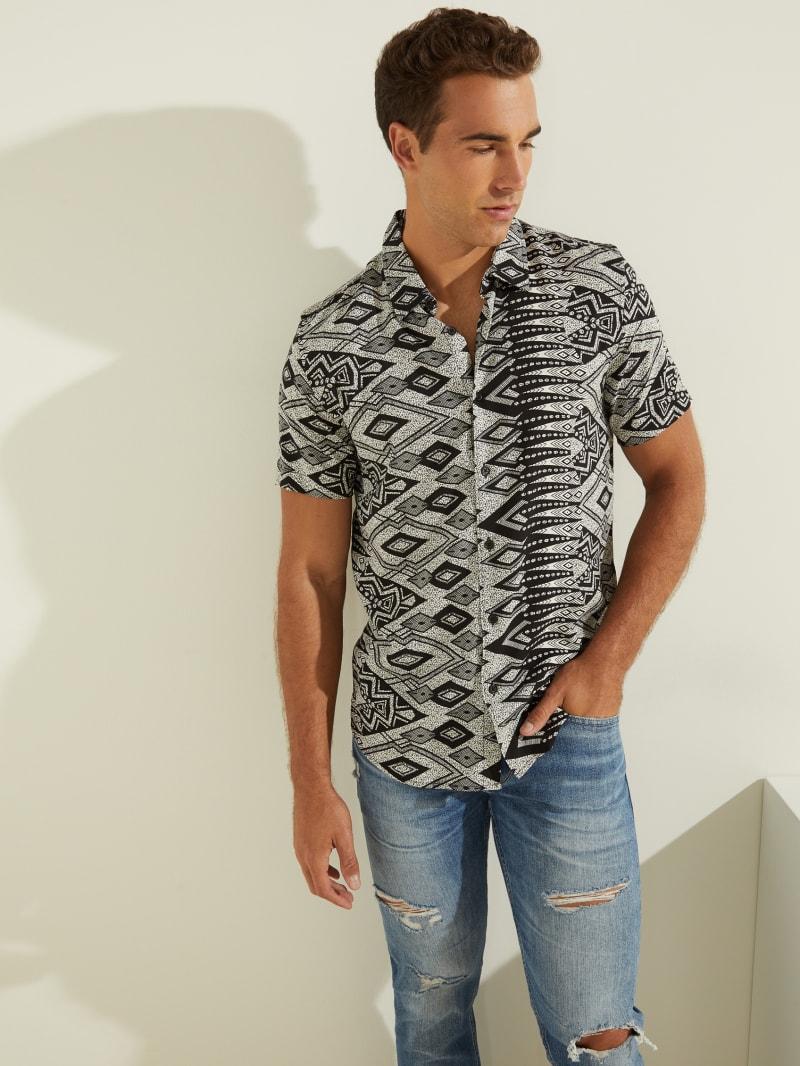 Eco Rogan Geometric Print Shirt