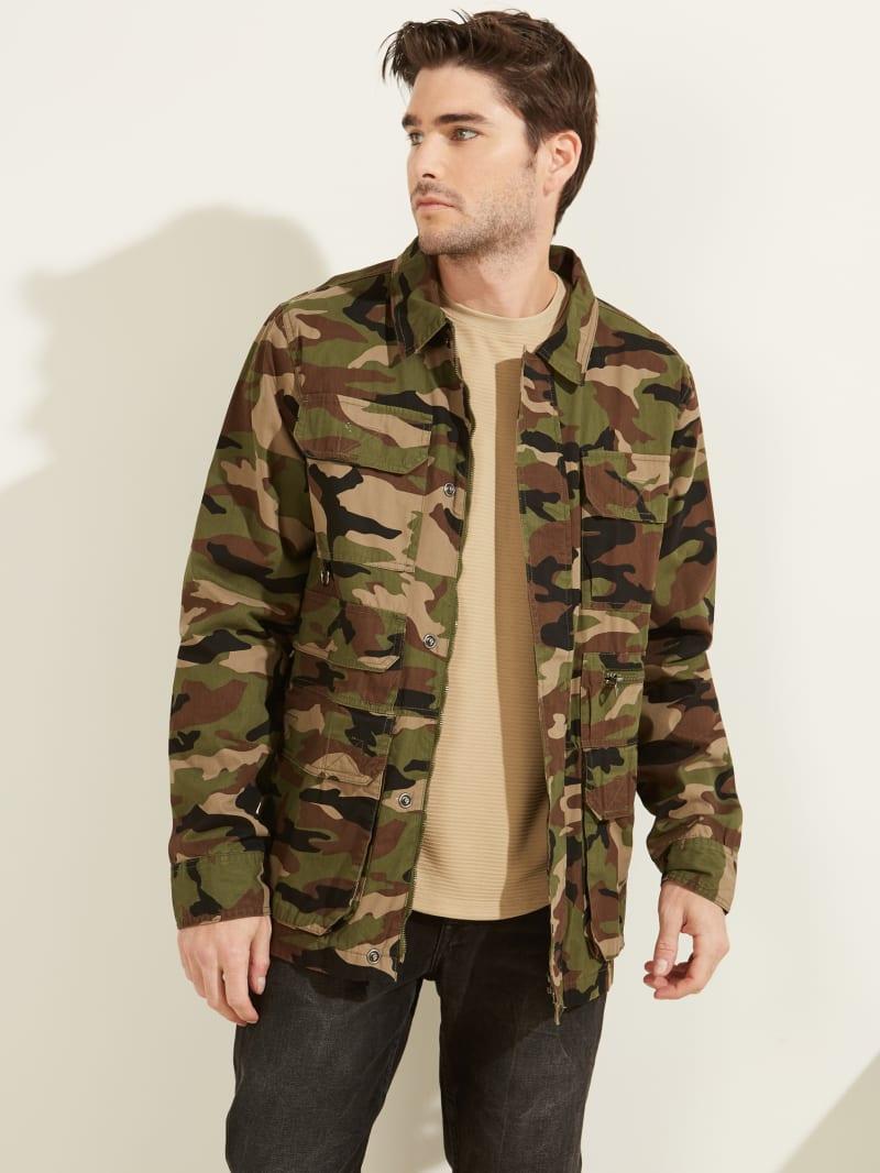 Camo Utility Poplin Shirt Jacket