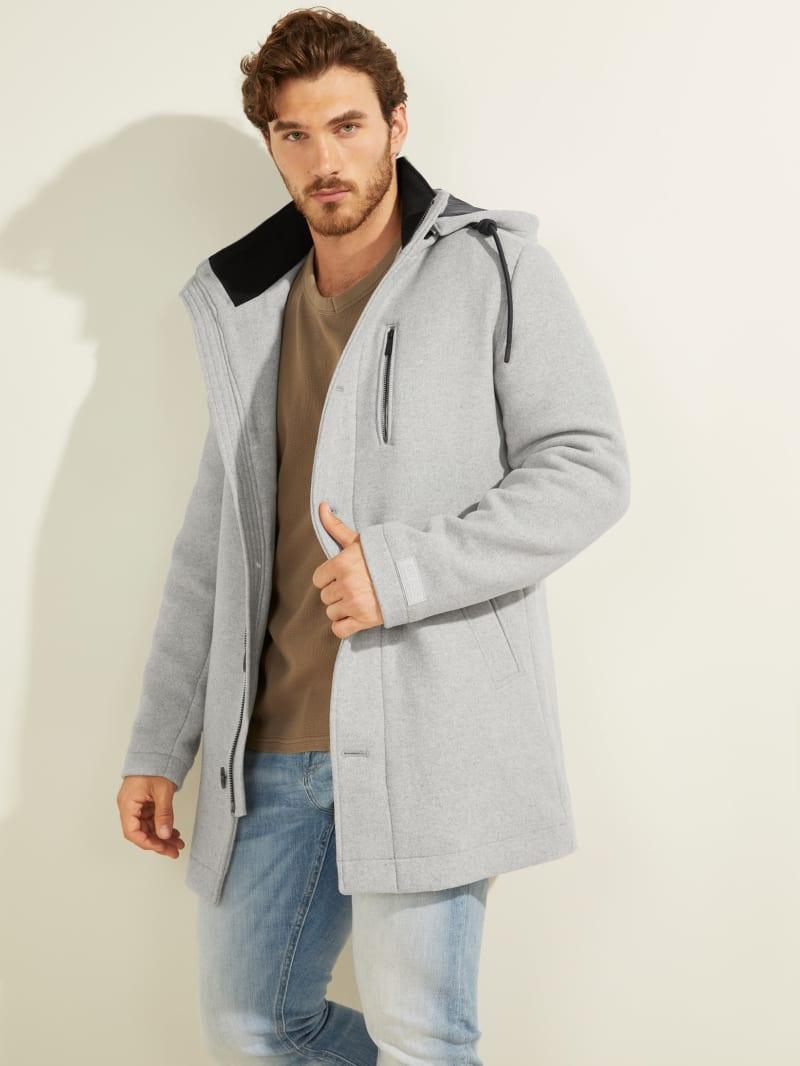Manteau urbain en mélange de laine