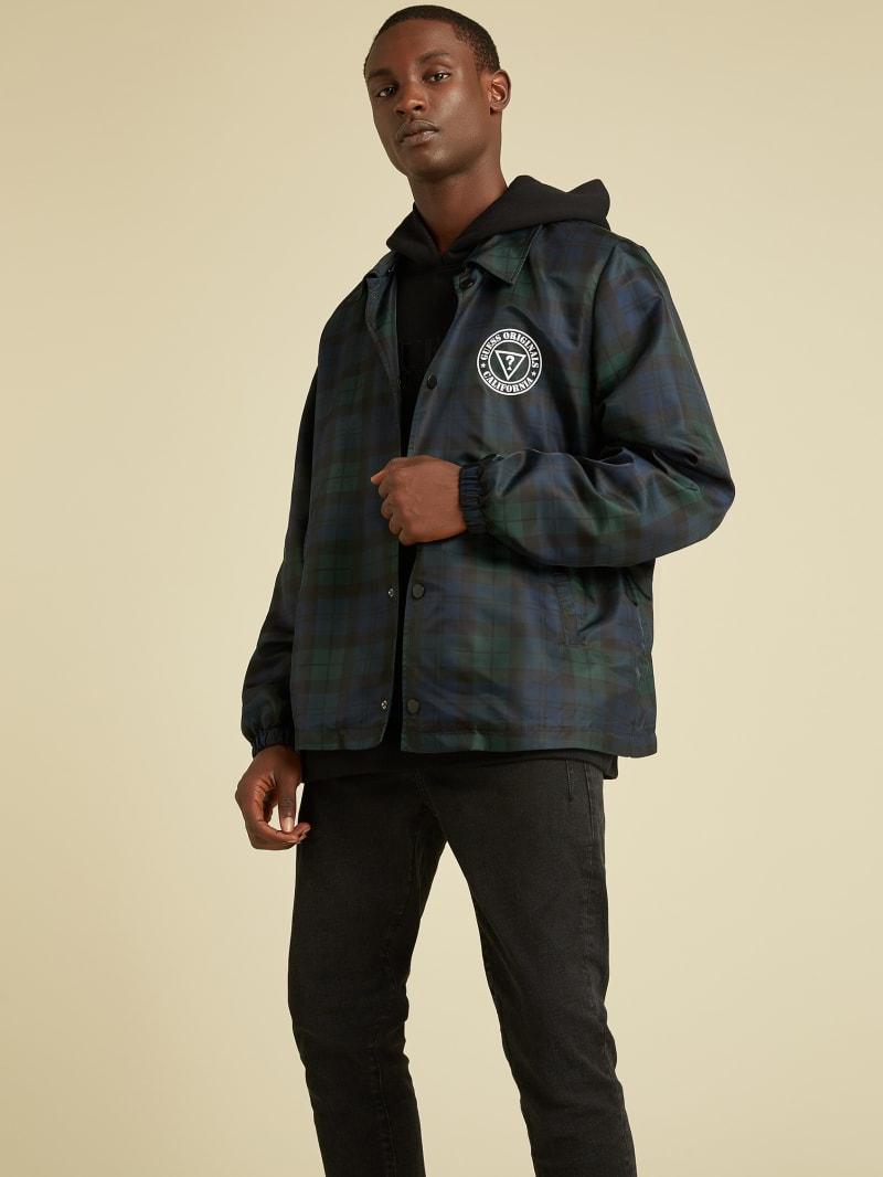 GUESS Originals Plaid Coach Jacket
