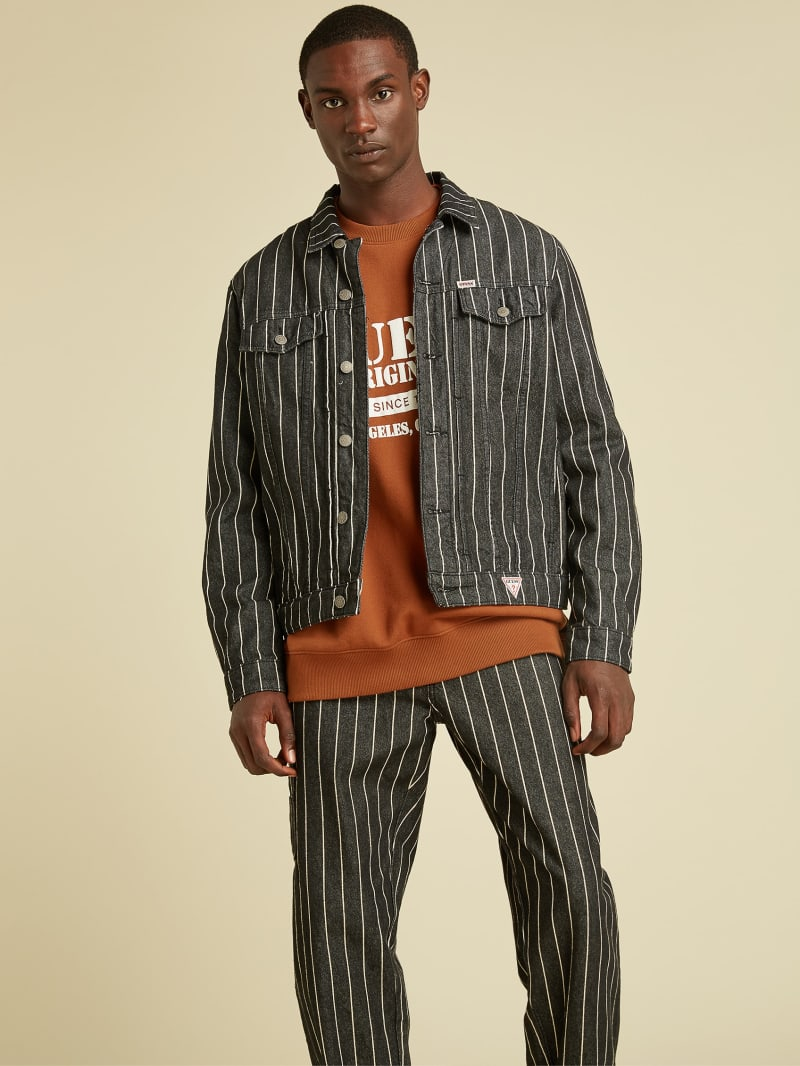GUESS Originals Pinstripe Denim Jacket