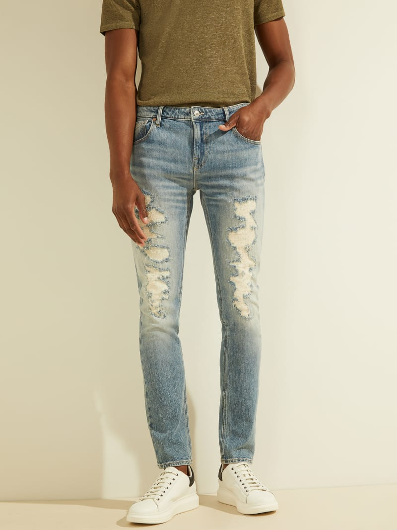 Eco Quincy Distressed Skinny Jeans
