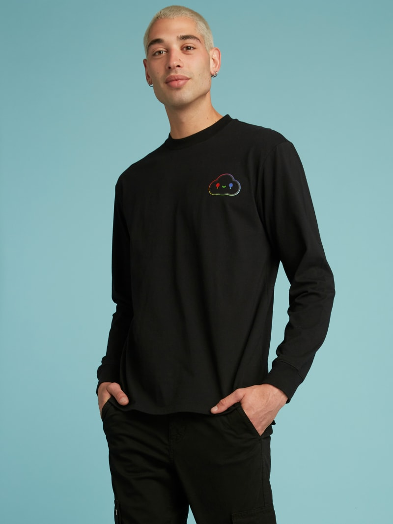 GUESS x FriendsWithYou Long-Sleeve Logo Tee