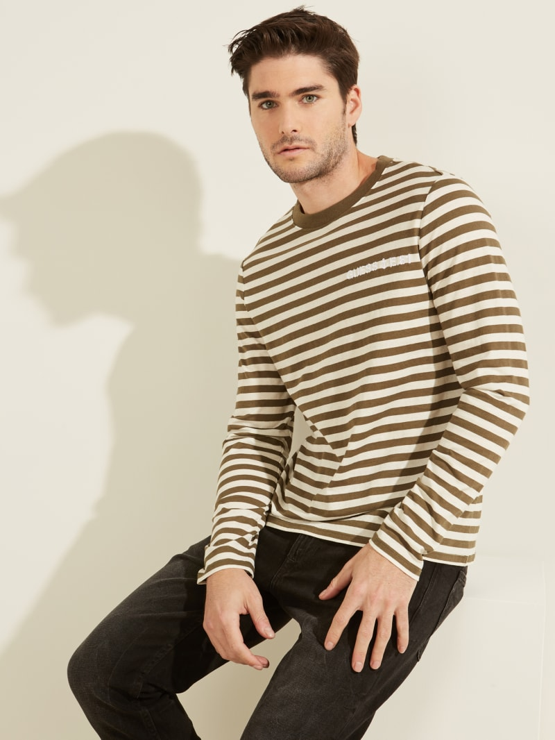 Anchor Striped Long-Sleeved Tee