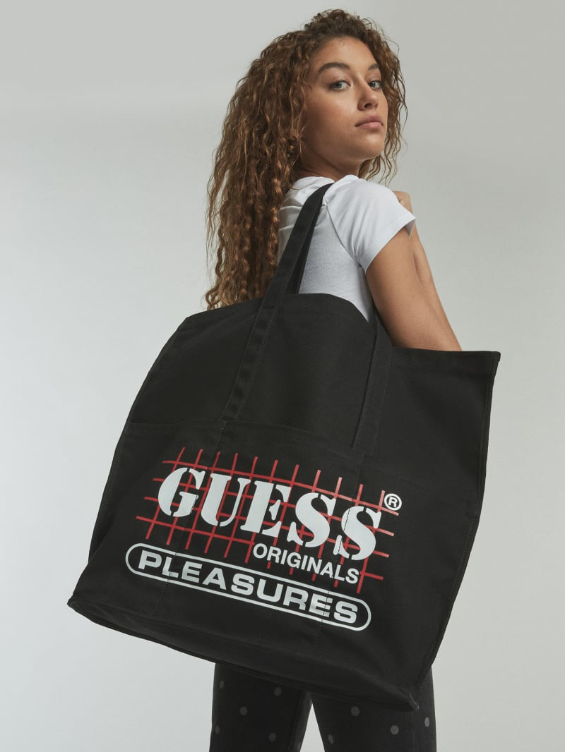 GUESS Originals x PLEASURES Logo Tote