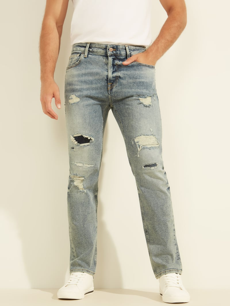 Angels Distressed Straight Jeans