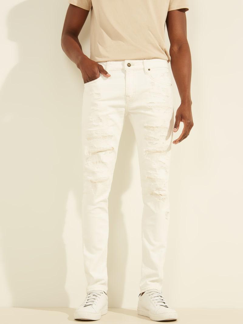 Distressed Skinny Painter Jeans