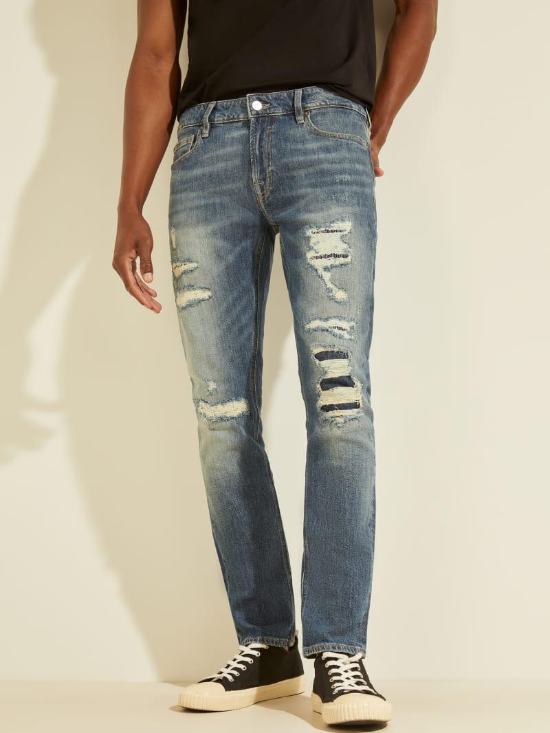 Eco Destroyed Skinny Jeans