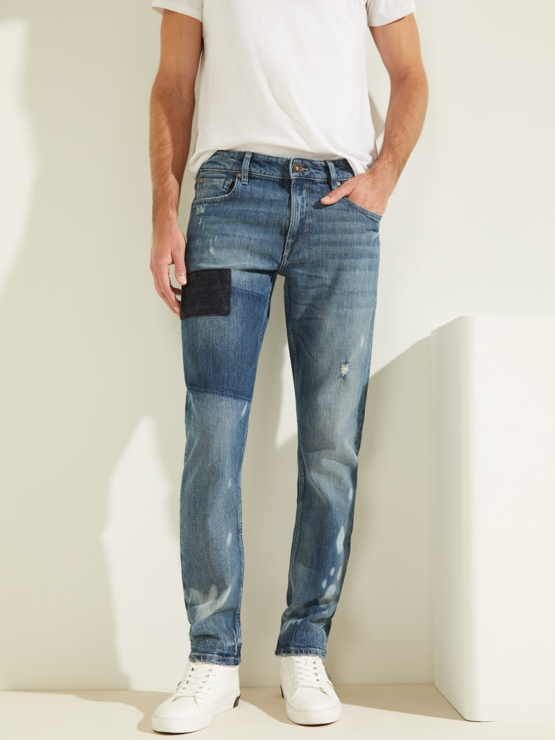 Eco Patch Slim Tapered Jeans