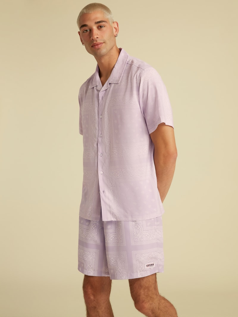 GUESS Originals Bandana Camp Shirt