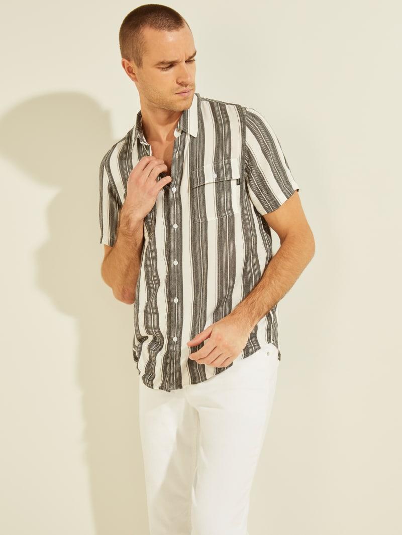 Safari Stripe Button-Down Shirt