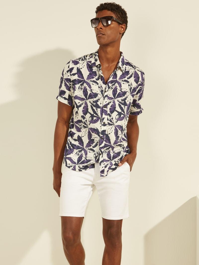 Eco Indigo Palms Shirt