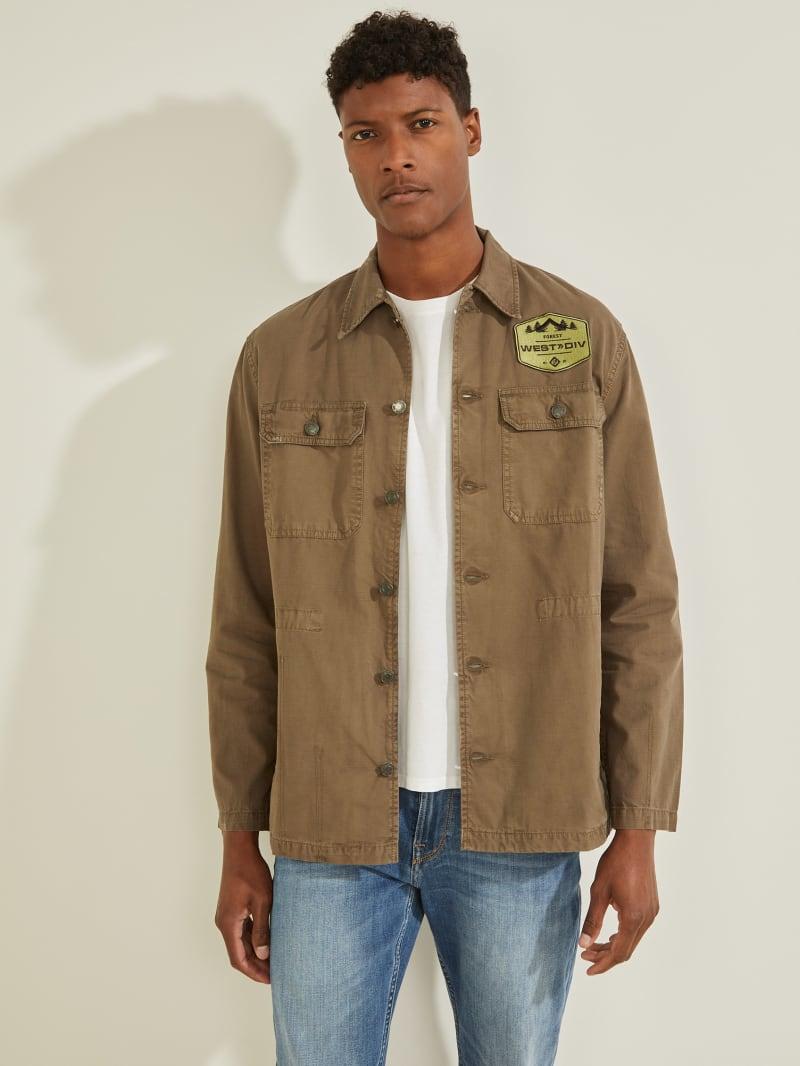 Patch Shirt Jacket