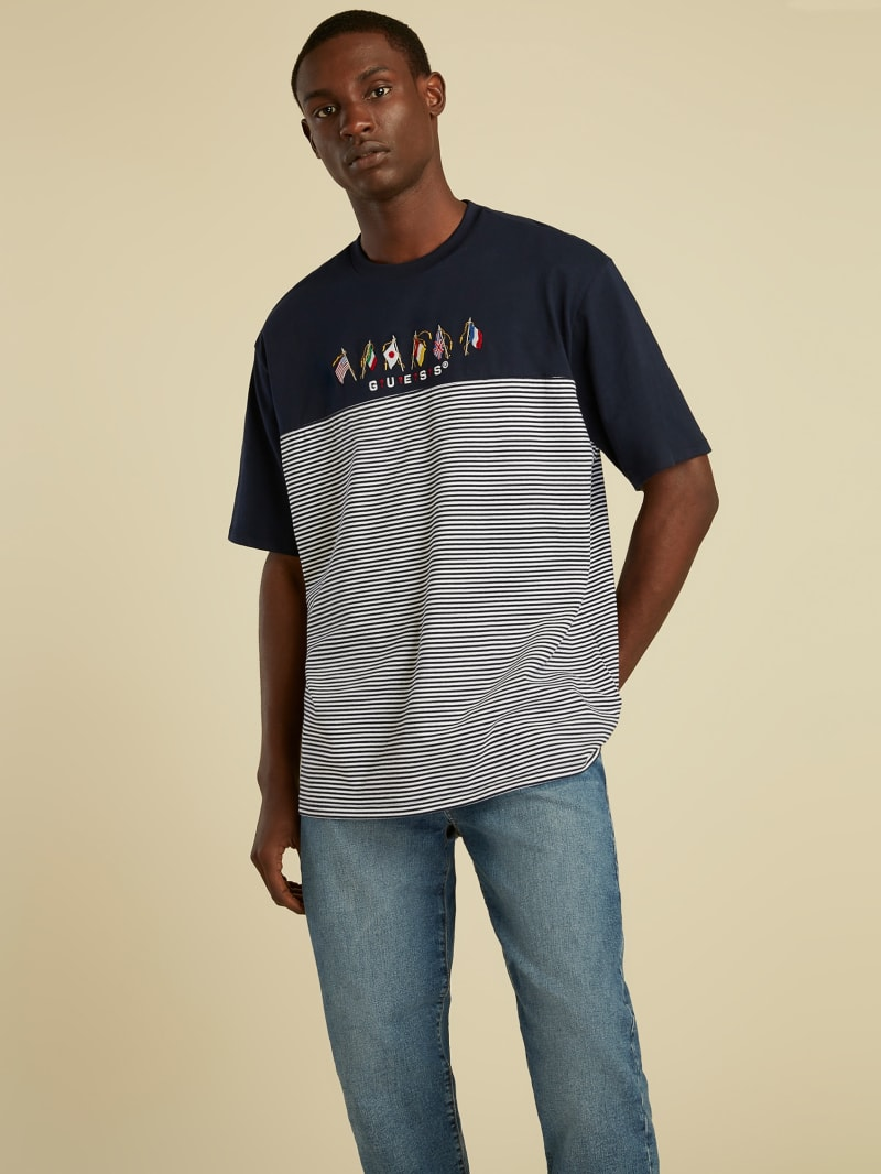 Striped Summer Games Tee