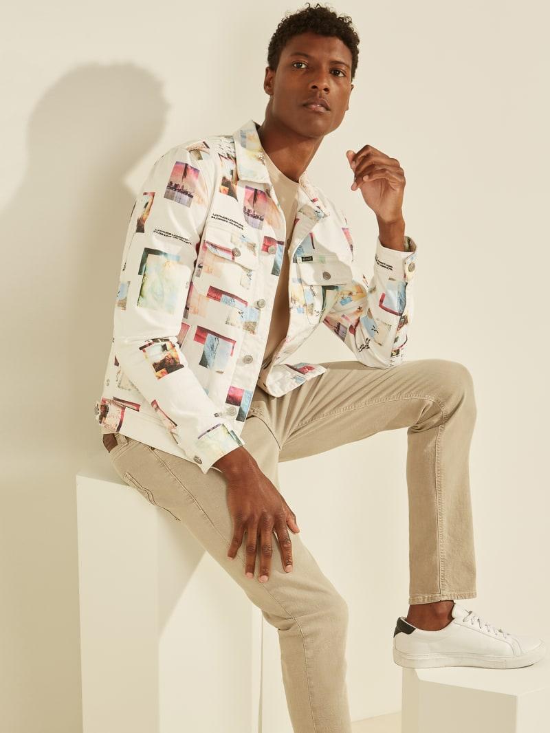 Collage Print Denim Jacket