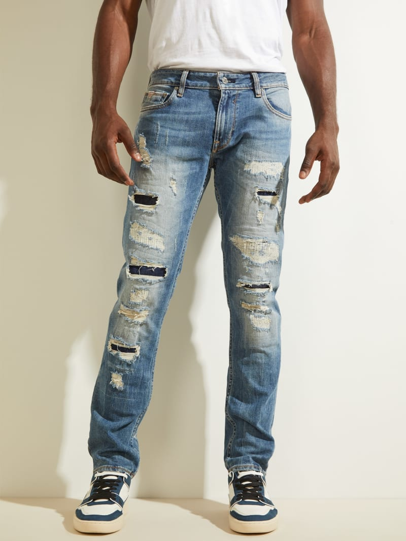 Destroyed Utility Patch Jeans