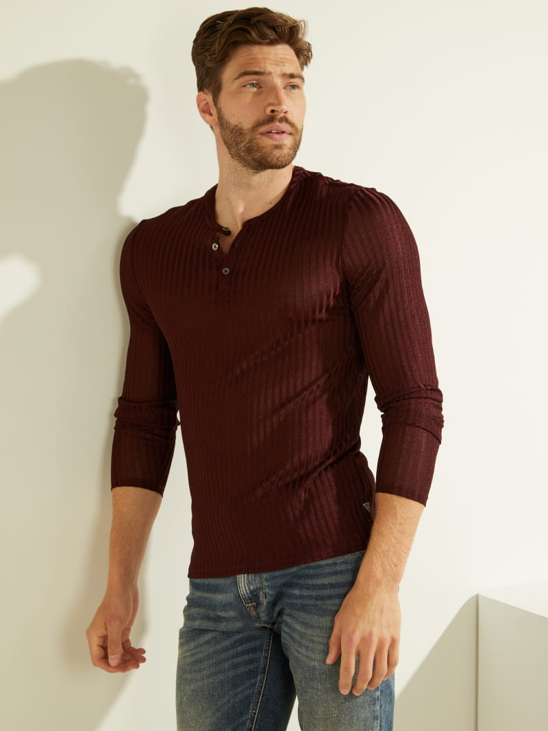 Warehouse Long-Sleeve Henley