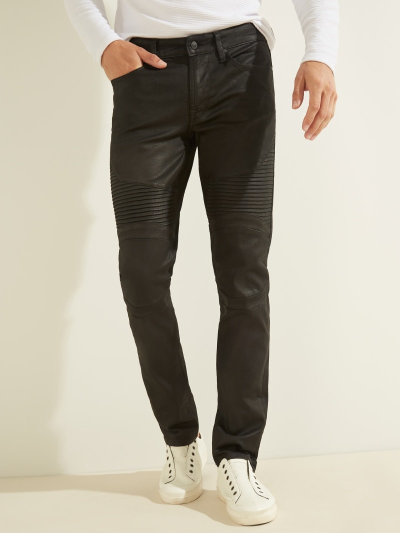 Freeform Coated Moto Slim Tapered Jeans