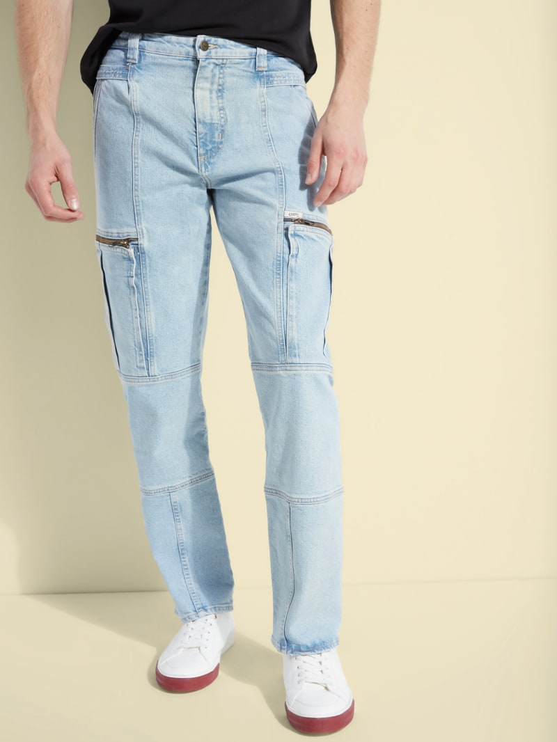 GUESS Originals Oversized Denim Cargo Pants