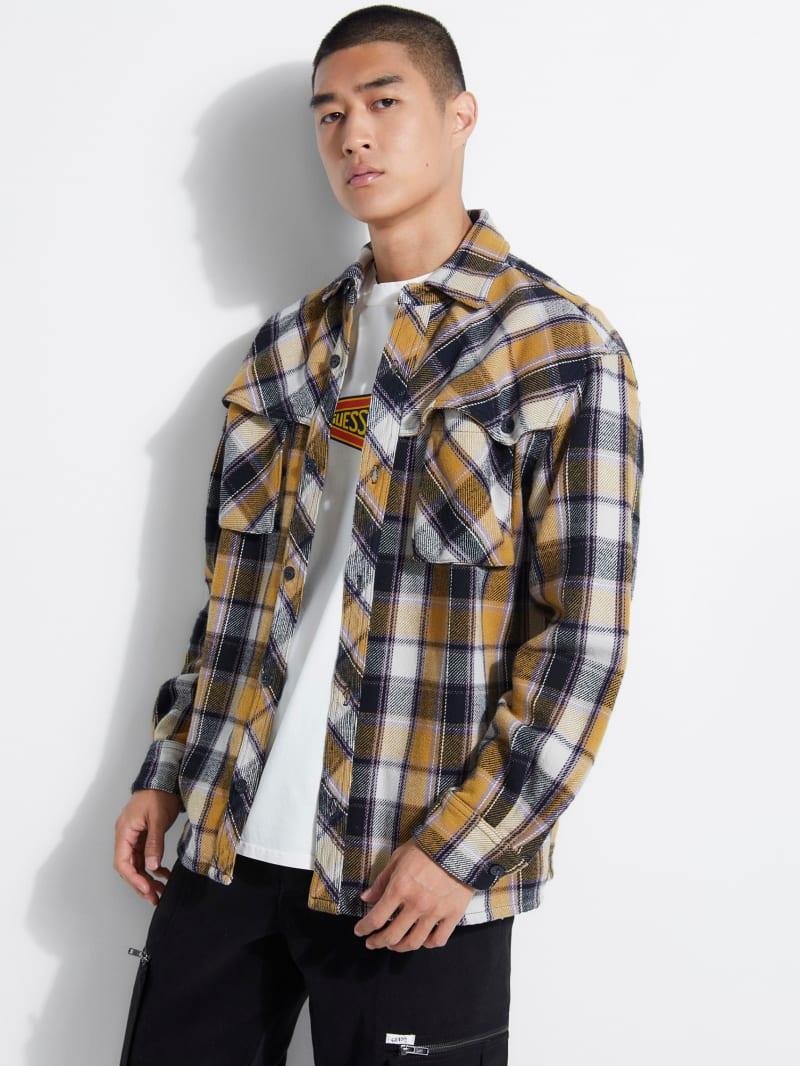 GUESS Originals Plaid Flannel Shirt