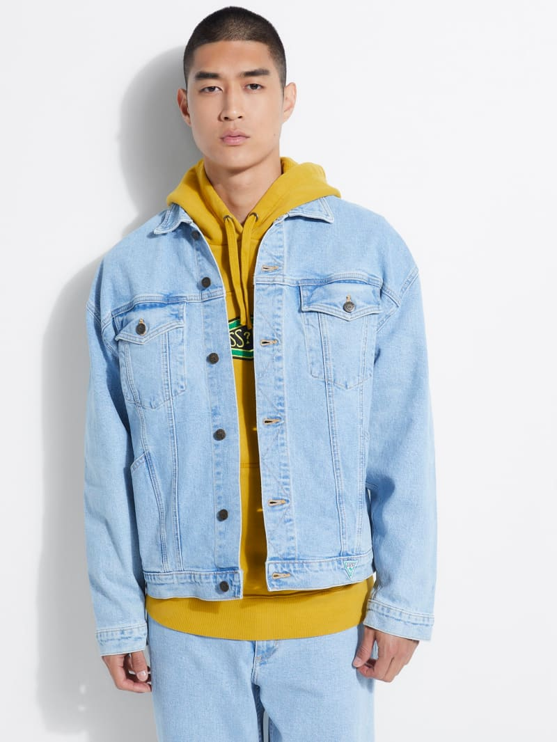 GUESS Originals Oversized Graphic Denim Jacket
