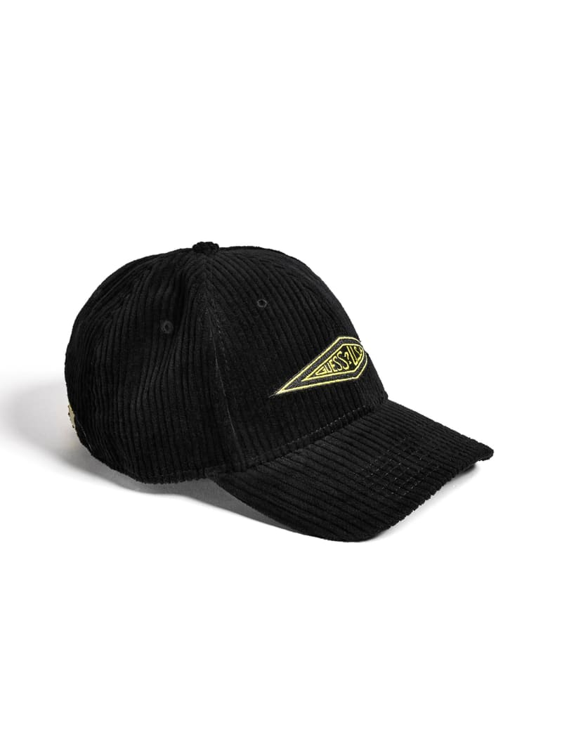 GUESS Originals Logo Corduroy Baseball Hat