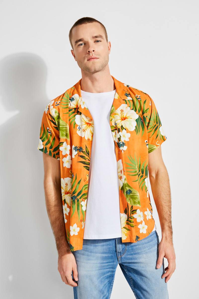 GUESS x J Balvin Tropical Print Shirt
