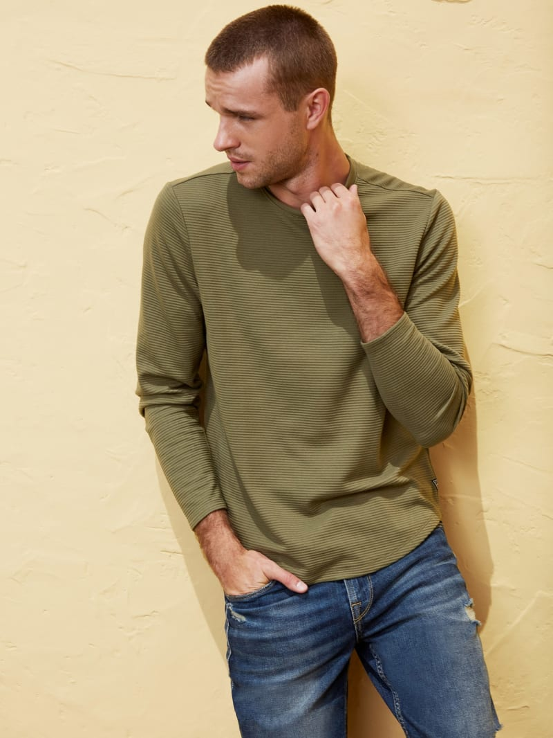 Linear Textured Pullover