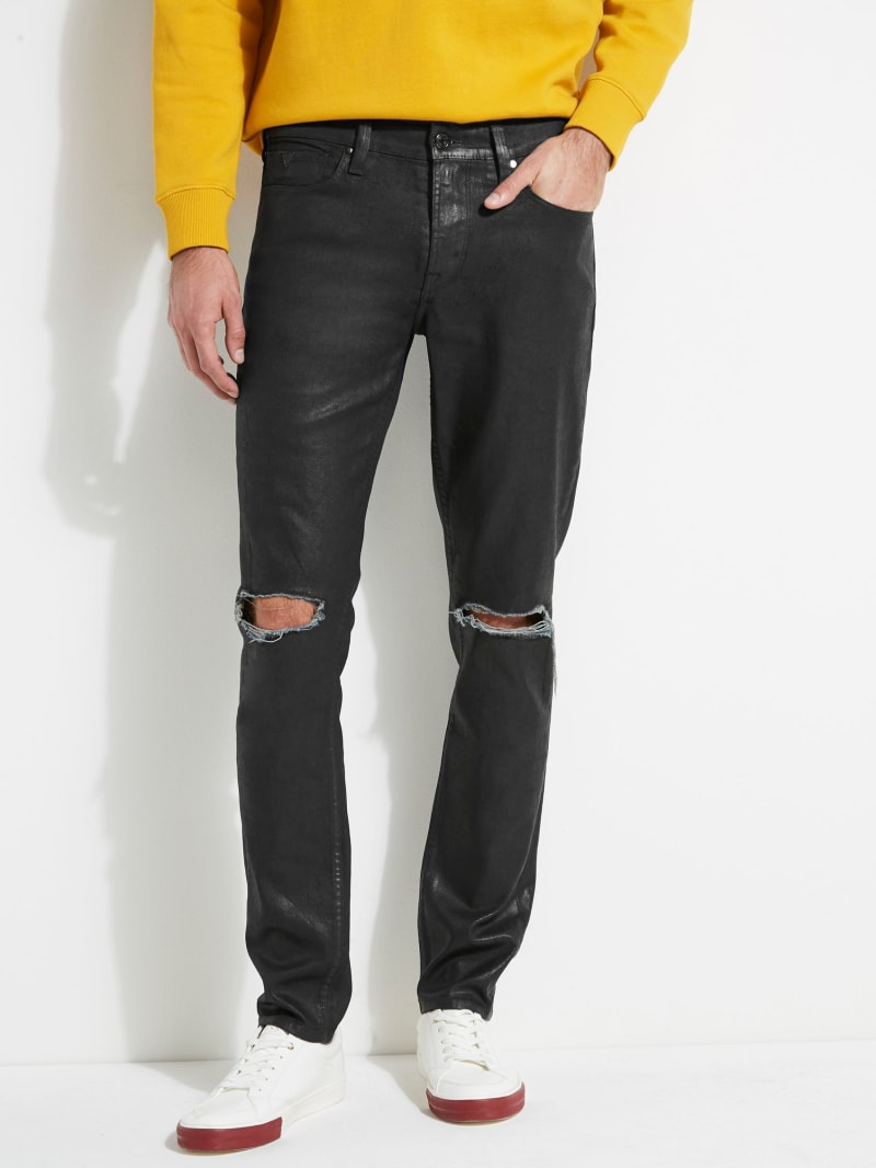 Coated Slim Tapered Jeans