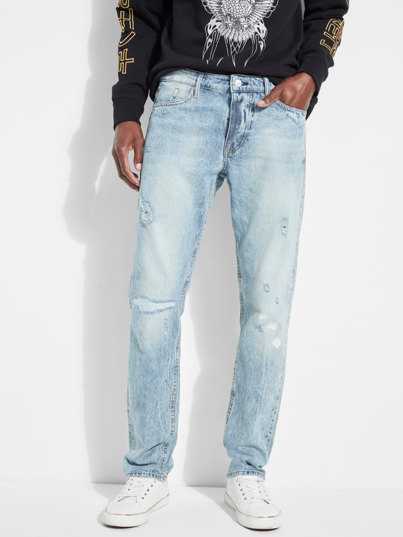 Selvedge Slim Straight Jeans