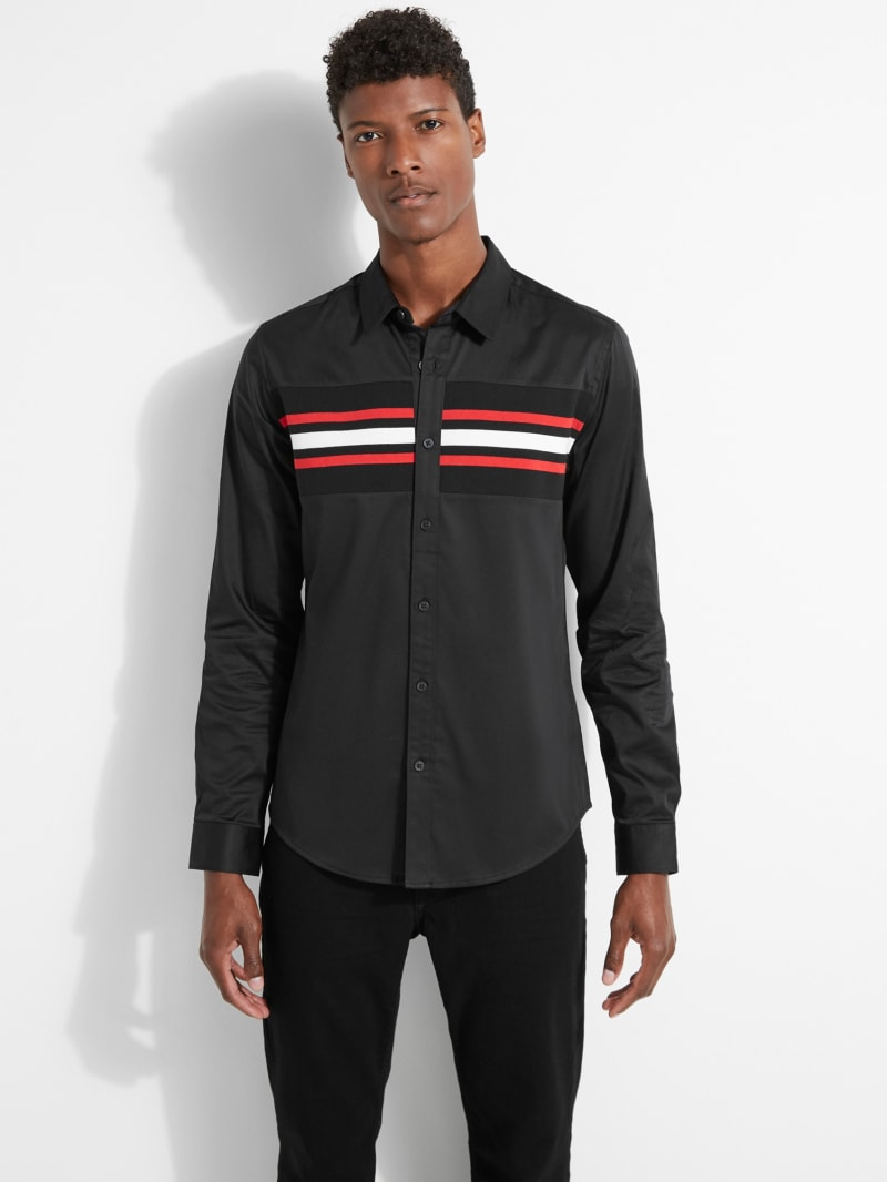Luxe Stripe Inset Shirt